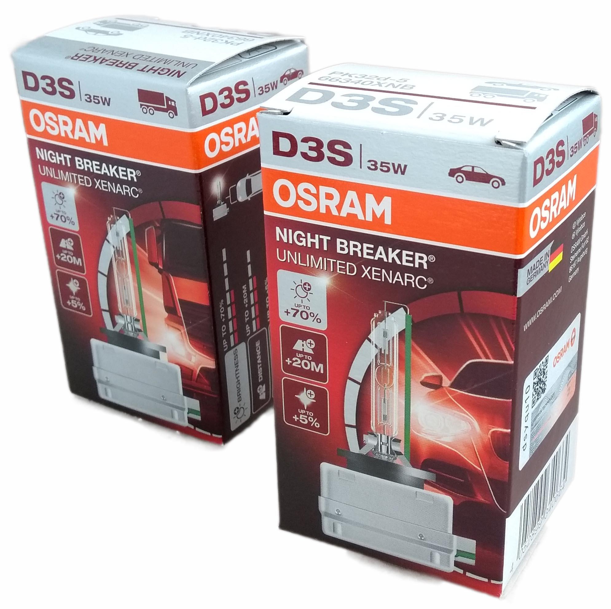 osram d3s night breaker unlimited xenarc xenon brenner 70 2 stk 66340xnb ebay. Black Bedroom Furniture Sets. Home Design Ideas